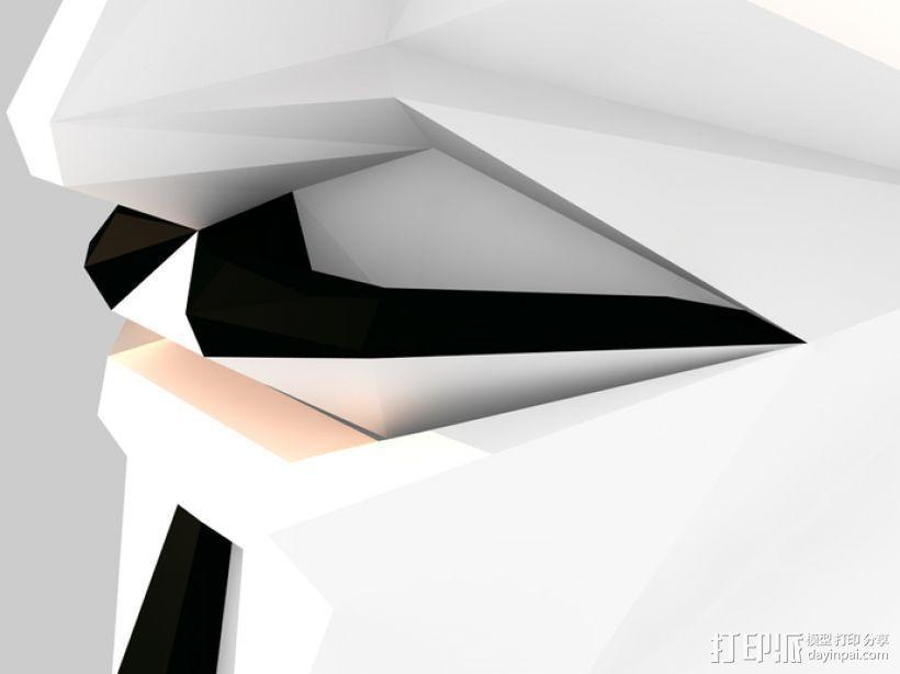 Guy Fawkes福克斯 低面数面具 3D打印模型渲染图