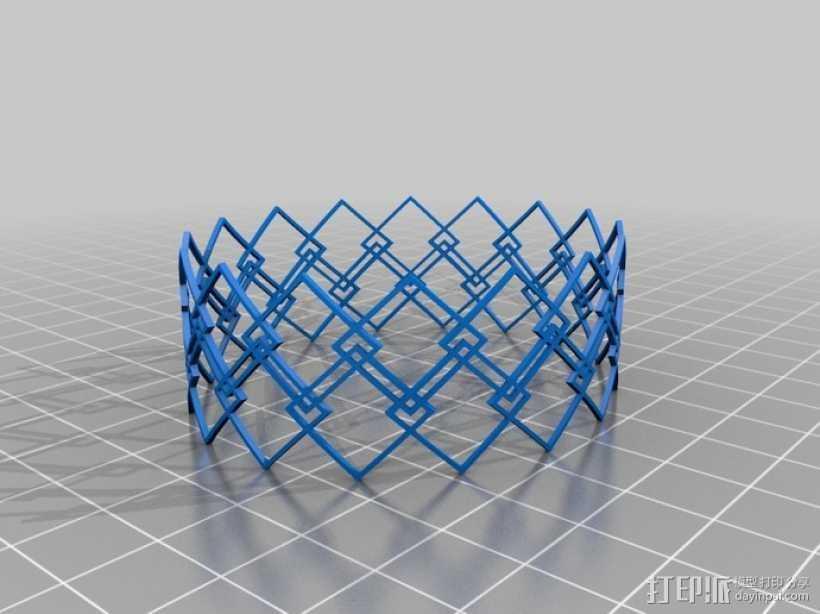 几何图形手镯 3D打印模型渲染图