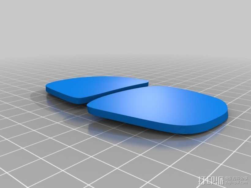 3D打印眼镜 3D打印模型渲染图