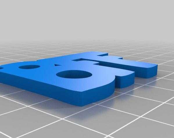 BFF项链坠 3D打印模型渲染图