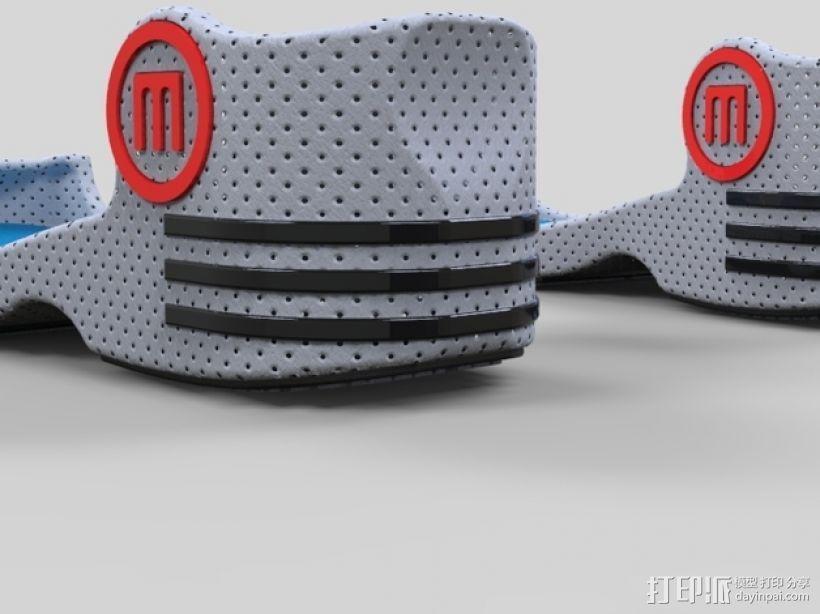重力鞋 3D打印模型渲染图