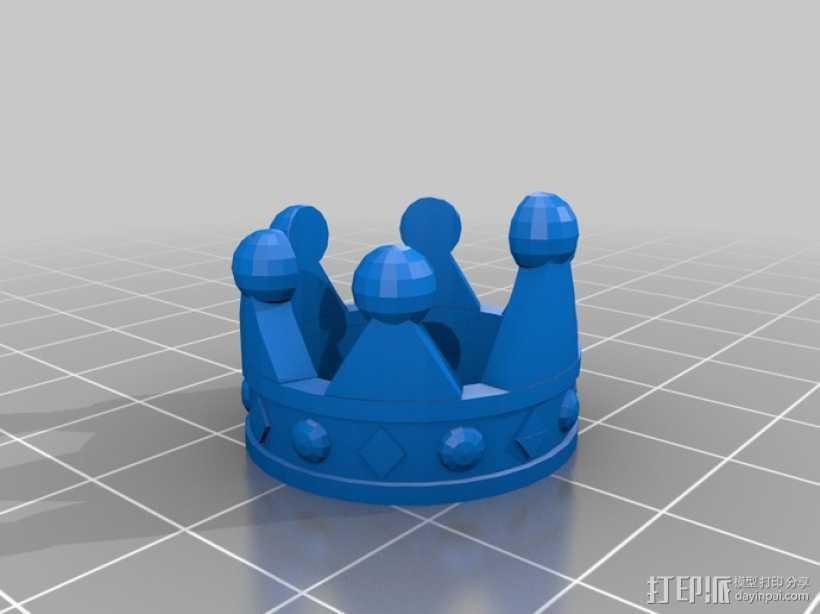 皇冠戒指 3D打印模型渲染图