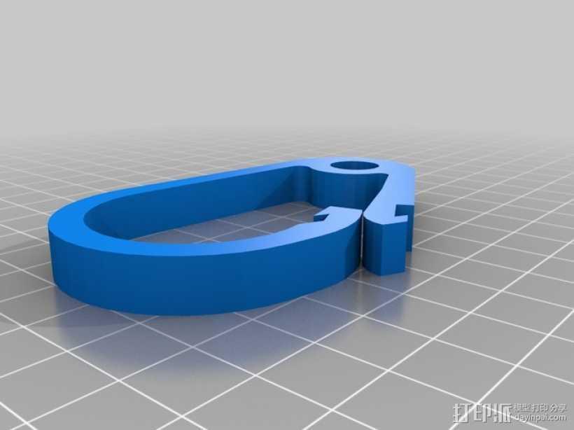 登山扣 钥匙圈 3D打印模型渲染图