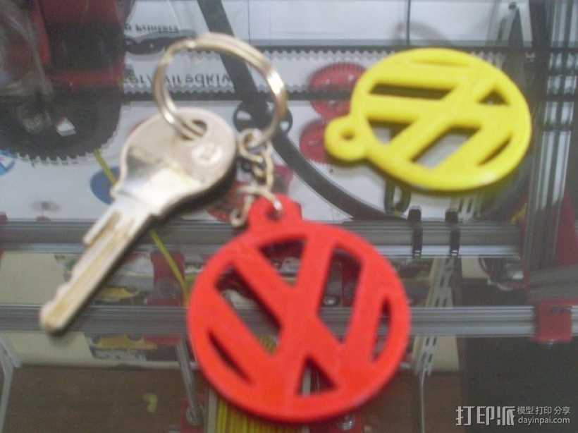 大众汽车 甲壳虫汽车 钥匙坠  3D打印模型渲染图