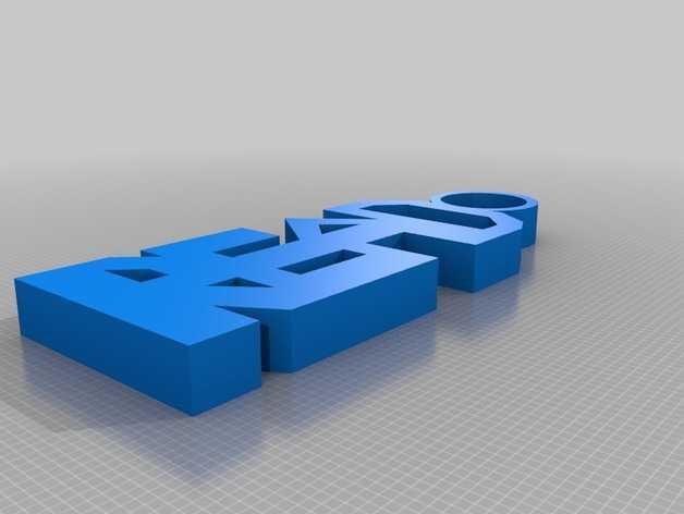 Read钥匙坠  3D打印模型渲染图