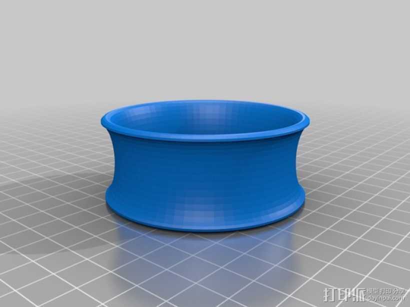 凹面手镯 3D打印模型渲染图