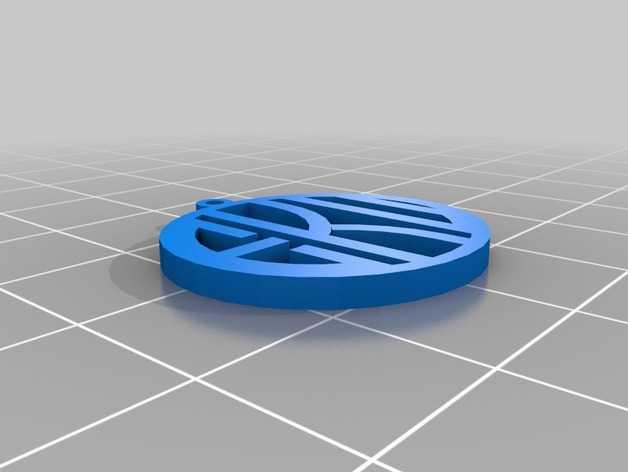 EKU字母吊饰 3D打印模型渲染图