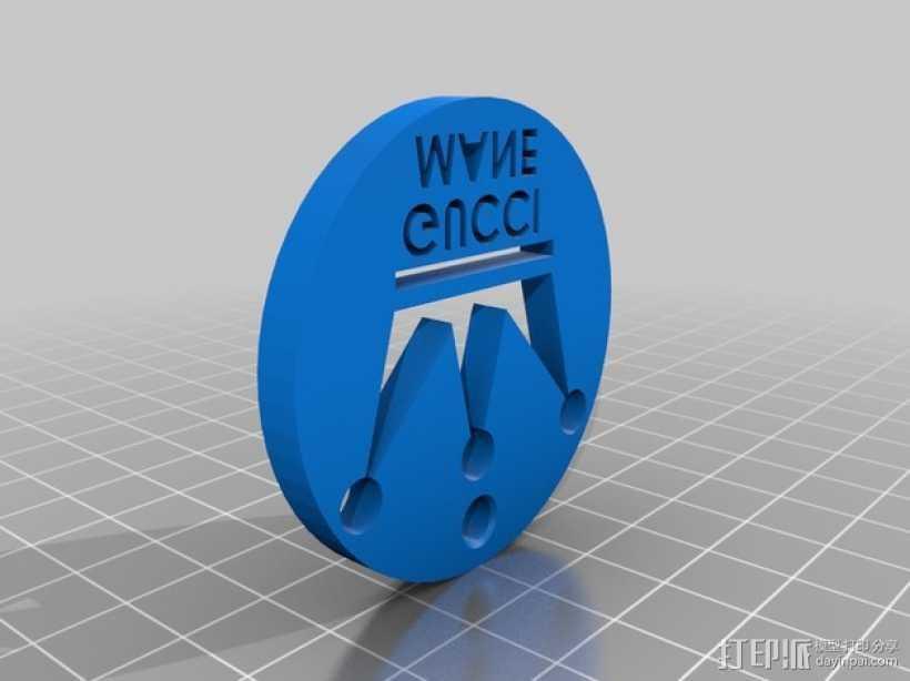 Gucci古驰 钥匙坠 3D打印模型渲染图