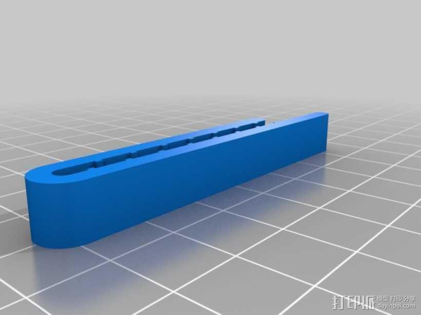 领带夹 3D打印模型渲染图