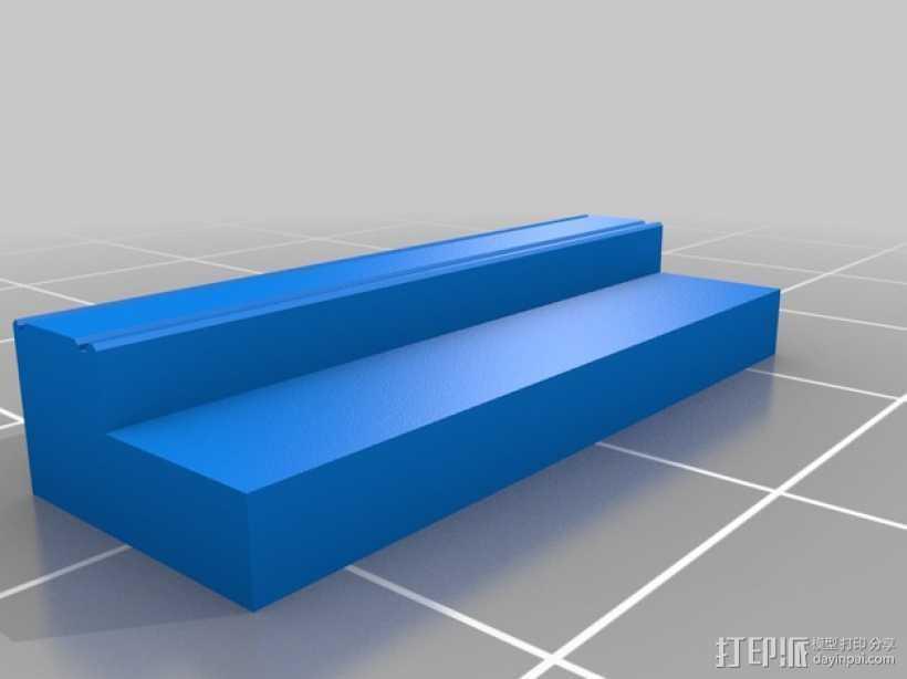 弹簧钥匙架  3D打印模型渲染图