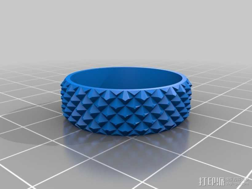 纺纱环 戒指 3D打印模型渲染图