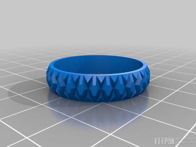 立体几何 戒指 3D打印模型渲染图