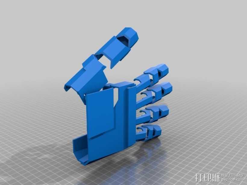 铠甲护手手套  3D打印模型渲染图