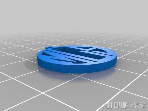花式字母 吊坠 3D打印模型渲染图