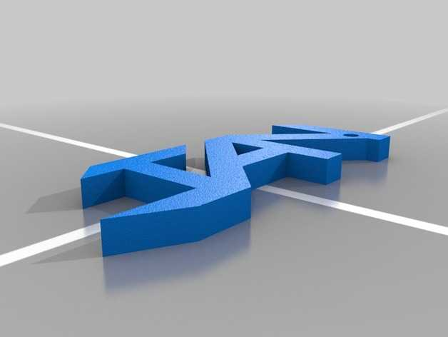 Jan字母钥匙坠 3D打印模型渲染图