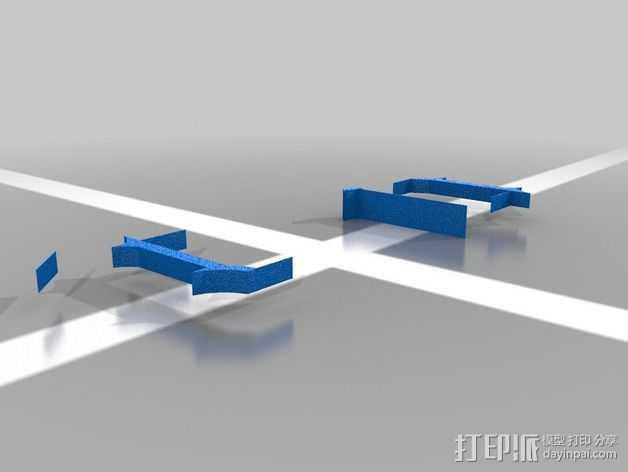 Connor字母模型 3D打印模型渲染图