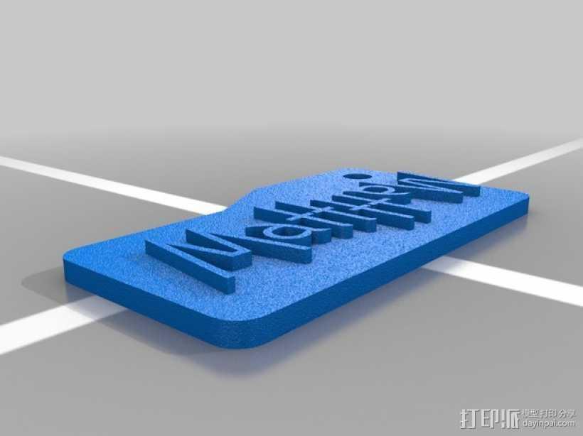 Matthew字母钥匙坠 3D打印模型渲染图