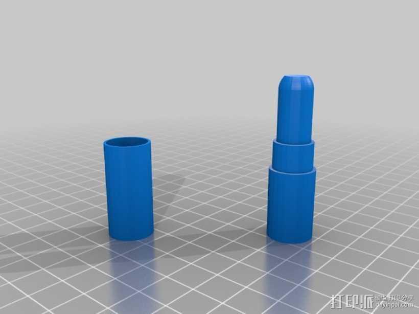 唇膏模型 3D打印模型渲染图