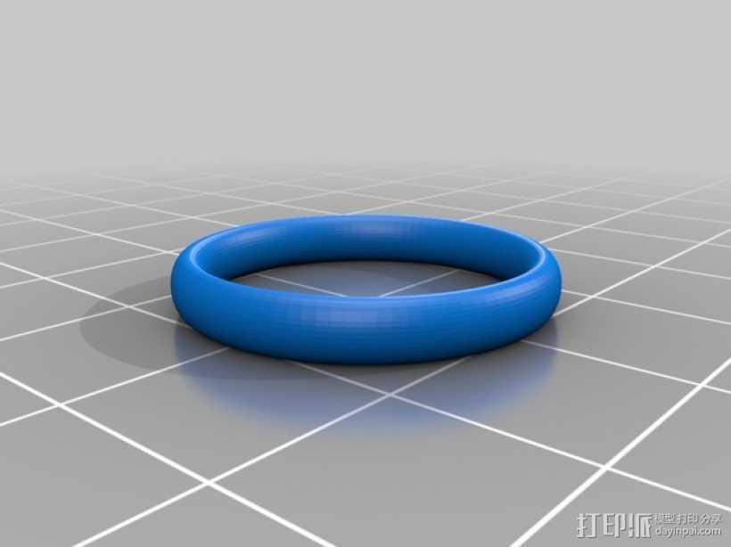婚礼手镯 3D打印模型渲染图
