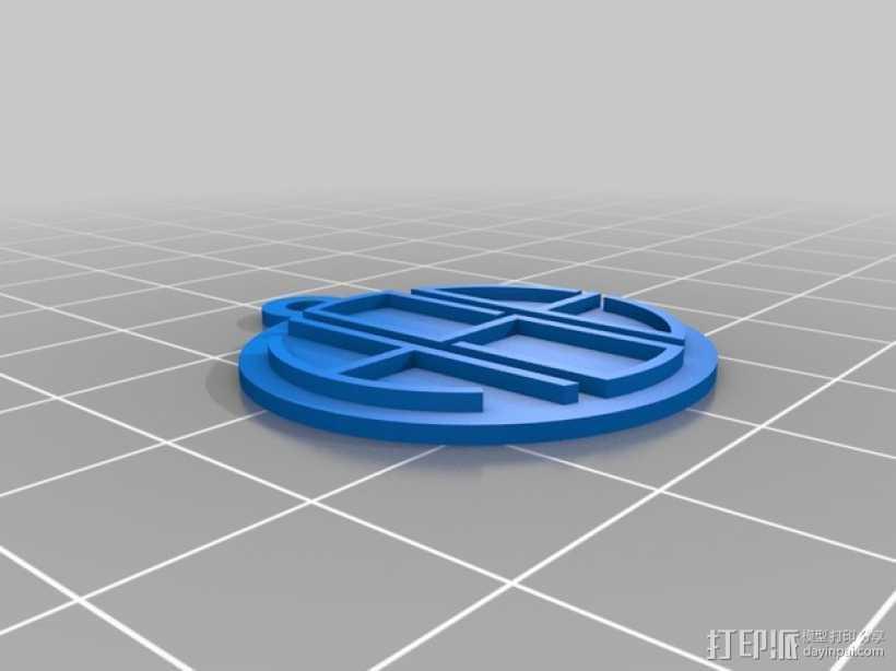 花式字母吊坠 3D打印模型渲染图