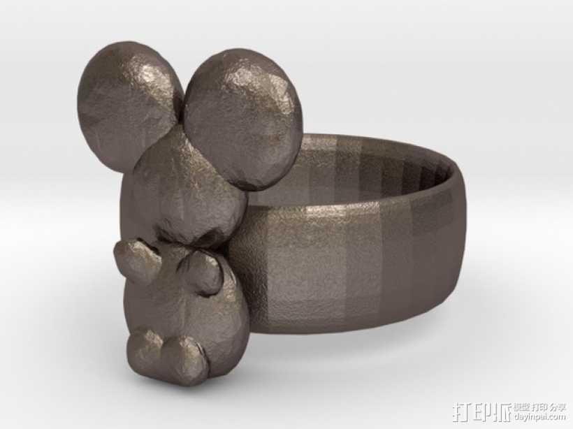 考拉戒指 3D打印模型渲染图