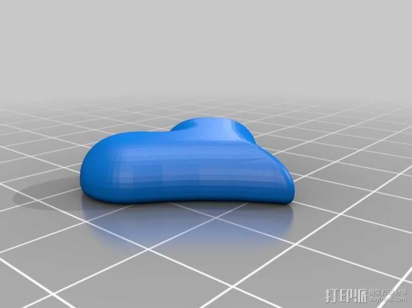 心形吊饰 3D打印模型渲染图