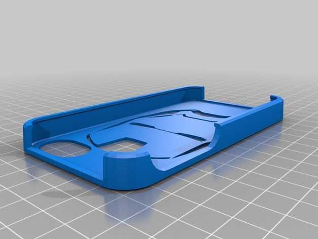钢铁侠iphone 4/4s手机套 3D打印模型渲染图