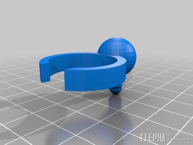 电灯圈 3D打印模型渲染图