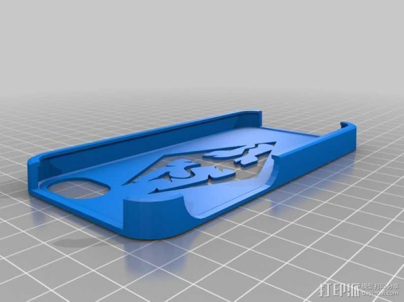 上古卷轴Iphone 5/5s手机套 3D打印模型渲染图