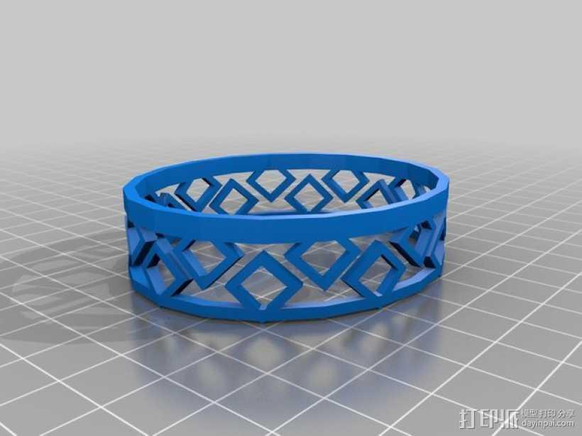 几何图形 手镯 3D打印模型渲染图