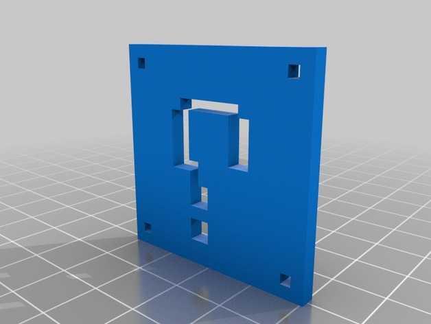 像素图形吊坠 3D打印模型渲染图