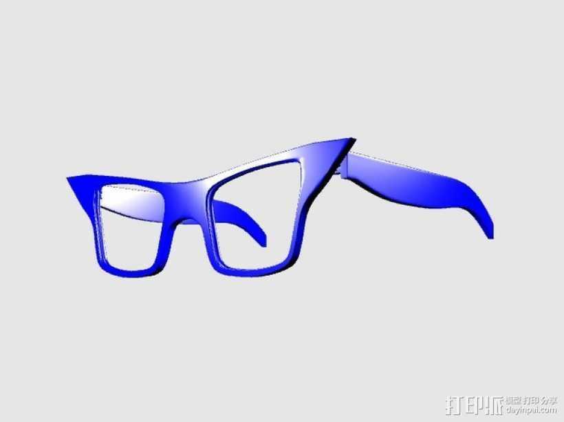 CALGARA_SONIC眼镜 3D打印模型渲染图
