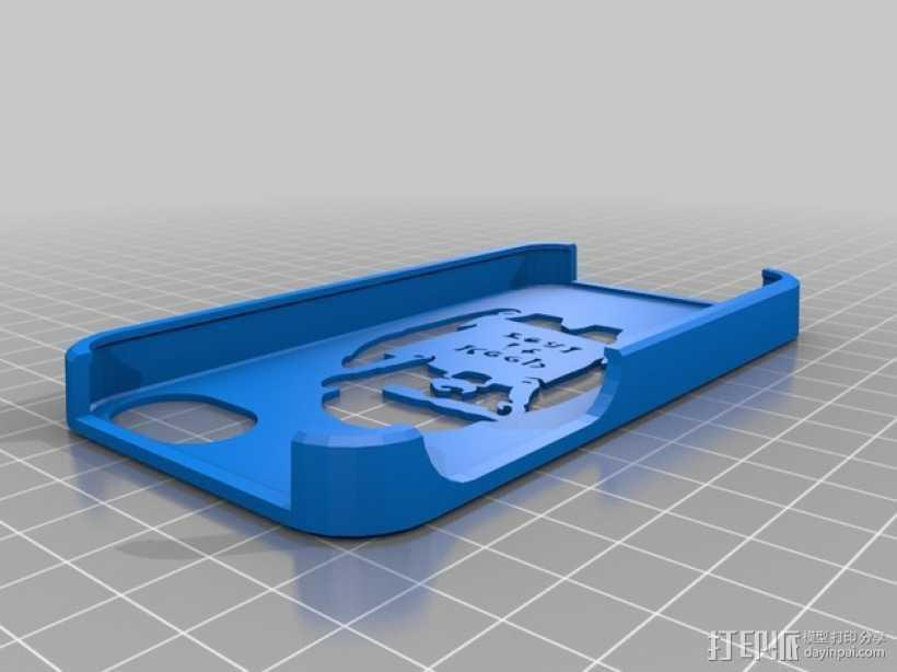 keep it real乐队标志 手机套 3D打印模型渲染图