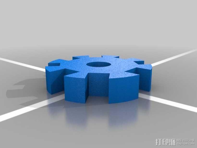 齿轮卷线器 3D打印模型渲染图