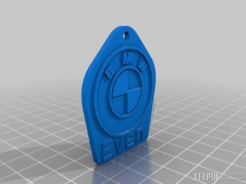 BMW汽车钥匙坠 3D打印模型渲染图
