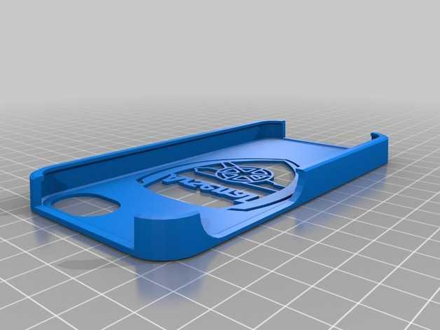 阿森纳队 手机套 3D打印模型渲染图