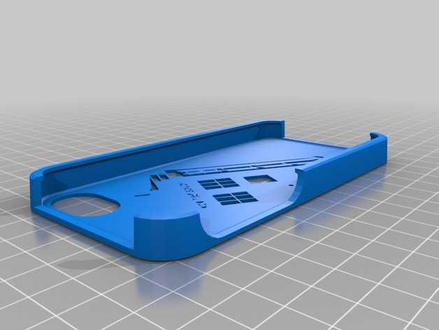 Tardis电话亭 手机套 3D打印模型渲染图