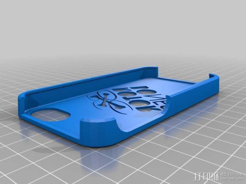 Rotor Bones 4S手机套 3D打印模型渲染图