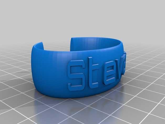 Steven腕带 3D打印模型渲染图