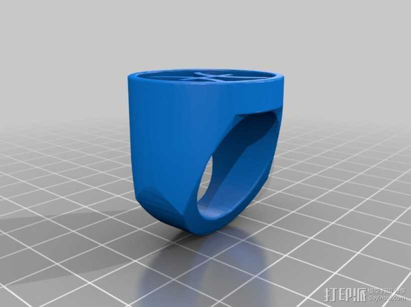 双鱼座指环 3D打印模型渲染图