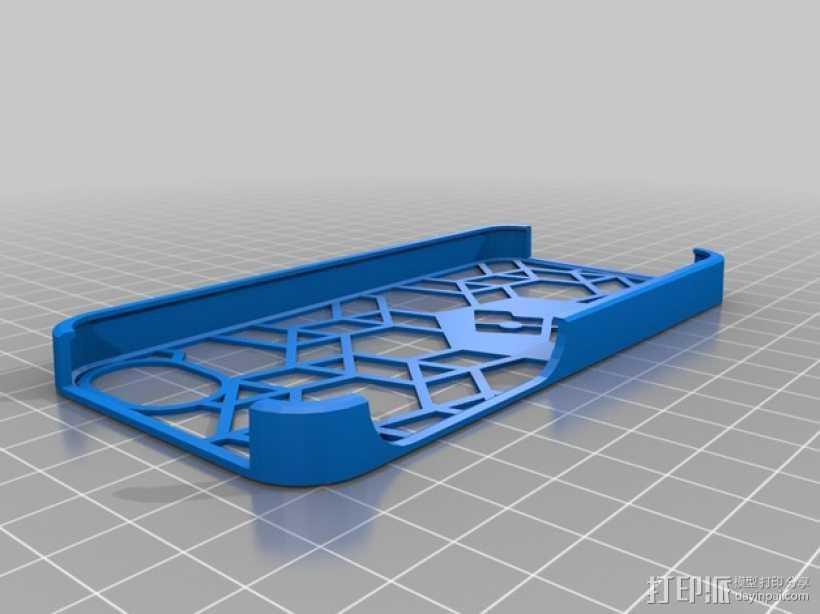 不规则图形 Iphone 5手机套 3D打印模型渲染图