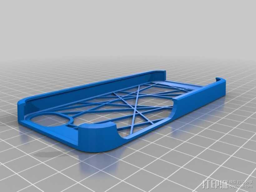 线形结构 手机套 3D打印模型渲染图