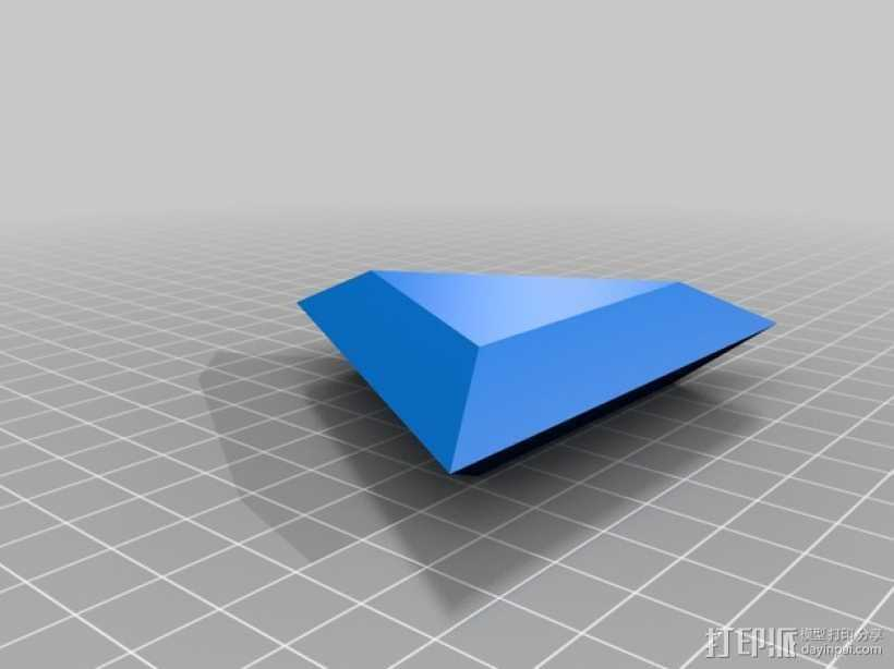 三角形宝石  3D打印模型渲染图
