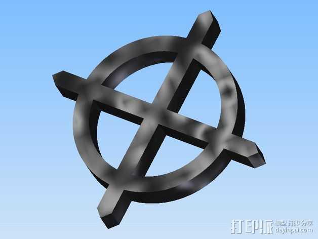 算子符号 3D打印模型渲染图
