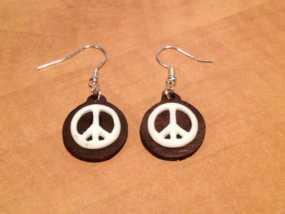 和平标识耳环