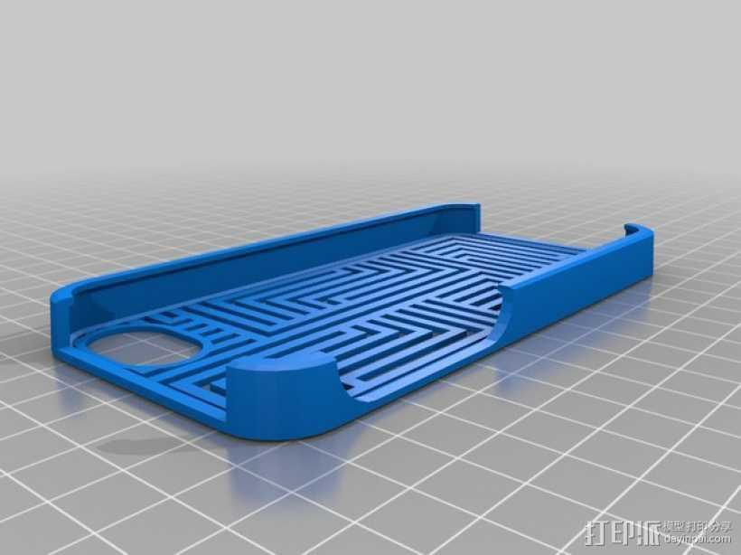 Aztec - 9 手机保护壳 3D打印模型渲染图
