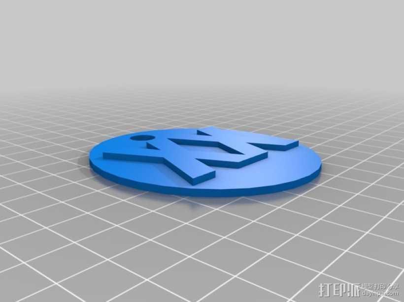 XX字母吊坠 3D打印模型渲染图
