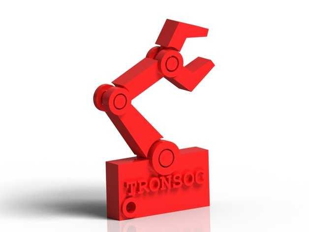 机器人手臂 钥匙坠 3D打印模型渲染图