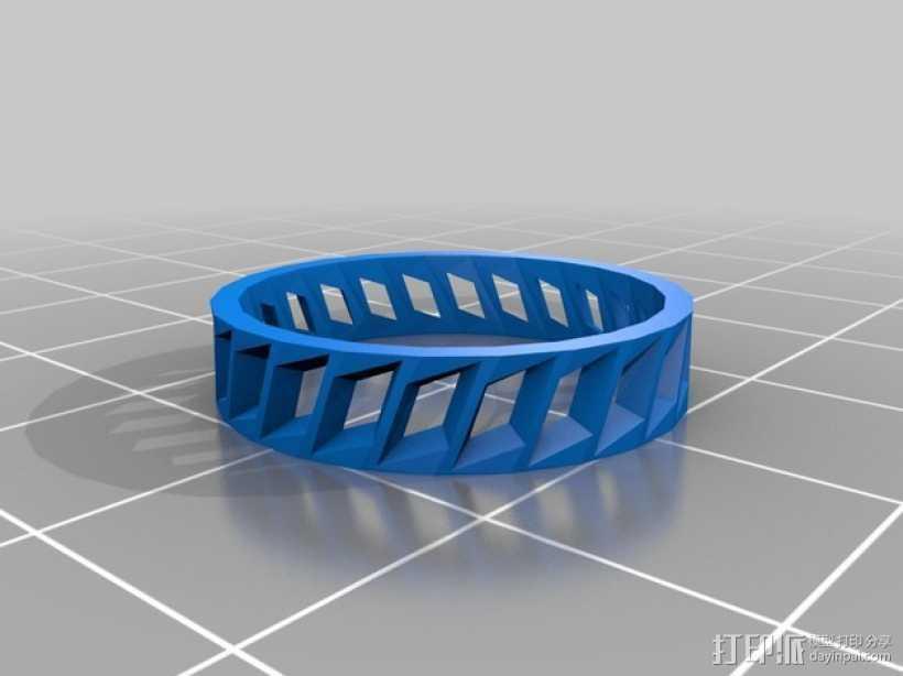 低面数 戒指 3D打印模型渲染图