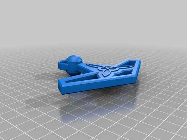 雷神之锤 项链坠 3D打印模型渲染图